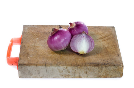 Red onion isolated on the white Stock Photo