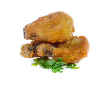 Fried leg chicken isolated