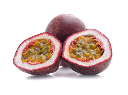 Passion fruit isolated on white Stok Fotoğraf