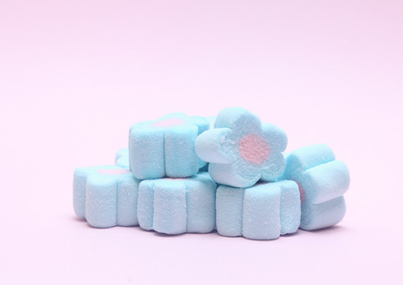 Marshmallows isolated on white
