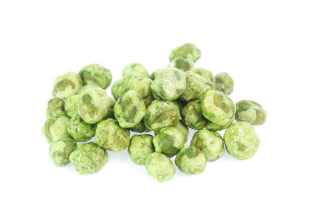 Dry peas isolated on a white