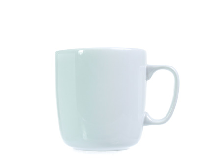 White cup  on white Stock Photo