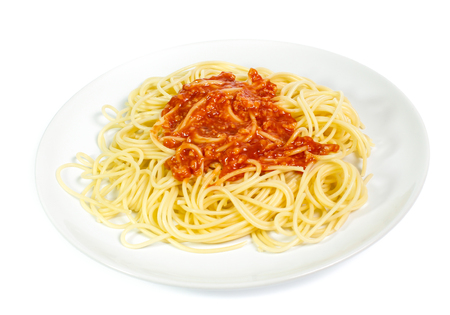 Spaghetti noodles  isolated 写真素材