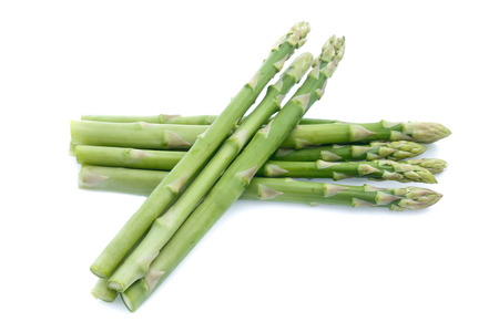 Asparagus on white background Stock fotó