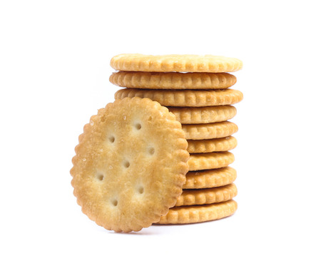 Cracker isolated on over white background Stok Fotoğraf
