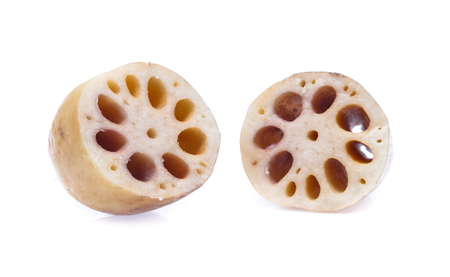Lotus root  isolated on the white background Standard-Bild