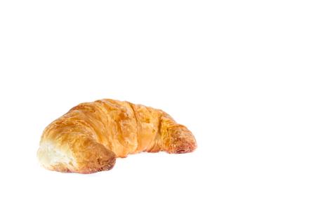 Fresh and tasty croissant over white Stock fotó