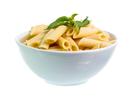 Pasta in white bowl Reklamní fotografie