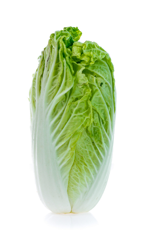 Fresh chinese cabbage on a white