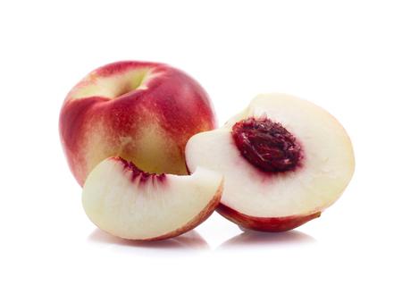 Nectarines isolated on white