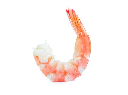 Shrimp isolated on the white