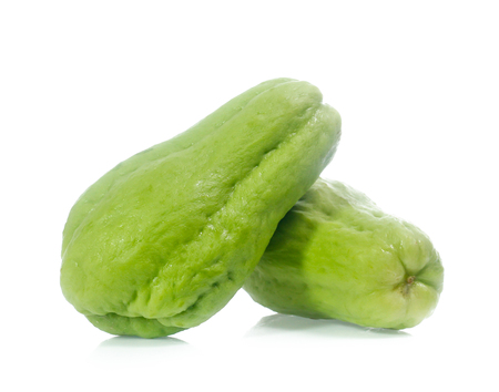 Chayote isolated on white