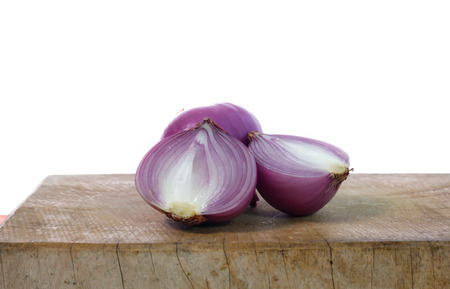 Red onion isolated on the white 版權商用圖片