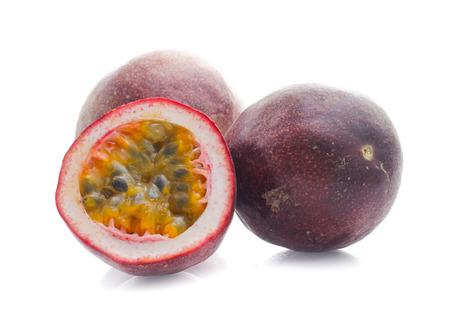 Passion fruit isolated on white 版權商用圖片