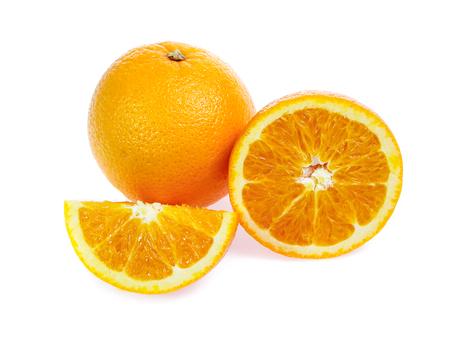 Orange fruit isolated on white 版權商用圖片
