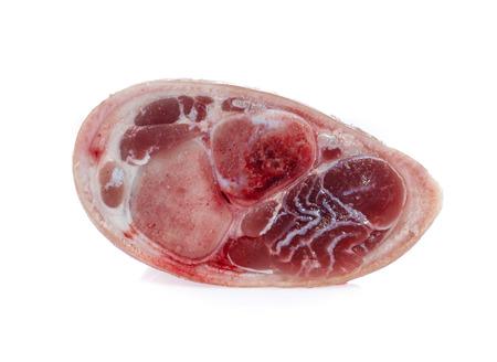 Raw pork (leg) isolated on white 版權商用圖片