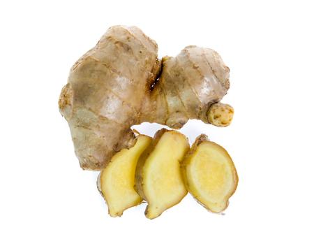 Ginger root on white 版權商用圖片