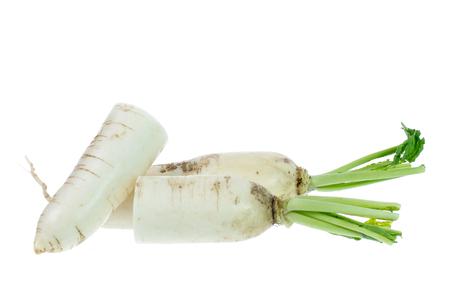 White radish isolated on white
