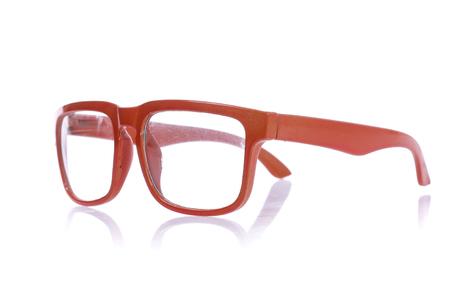 Orange glasses isolated on white
