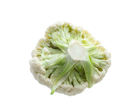 Fresh cauliflower cabbage vegetable on white Stok Fotoğraf