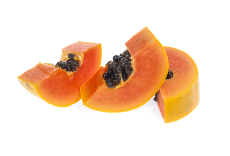 Papaya isolated on a white