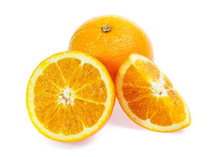 Orange fruit isolated on white Reklamní fotografie