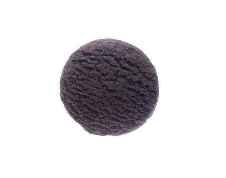 Dark chocolate brownie cookies isolated on white