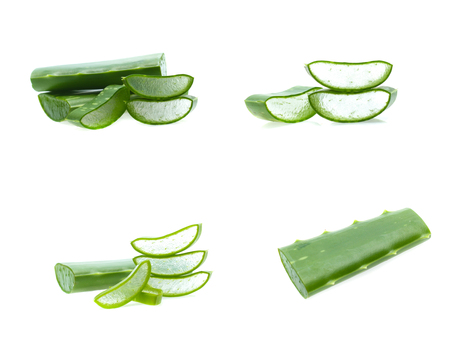 Aloe sliced, isolated on a white