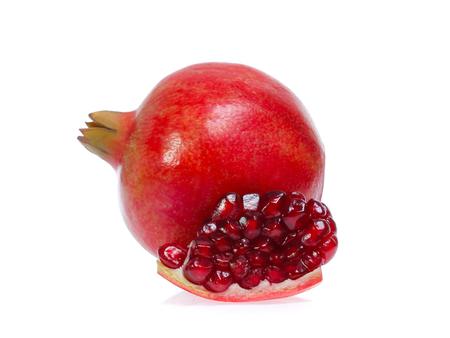 Pomegranate   isolated on white 版權商用圖片 - 119746242