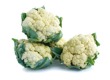 Cauliflower isolated on white
