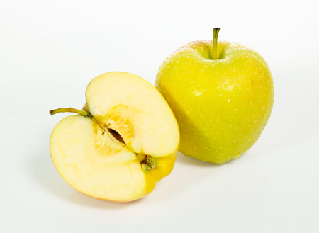 Yellow apples isolated