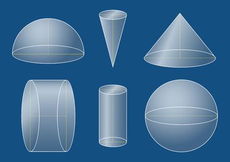 3d basic shapes set Ilustração