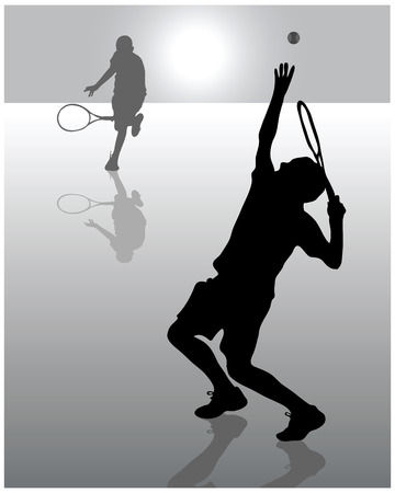 backhand: Illustration of tennis player