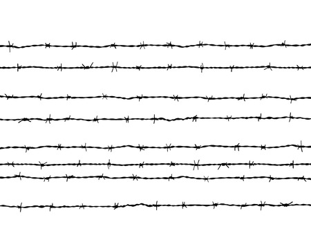 Black silhouette of the barbed wire Imagens - 42913864