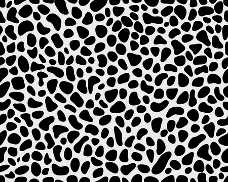 snow leopard: Seamless pattern of skin of leopard 2, vector illustration Illustration