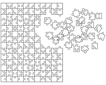 troubleshooting: puzzle with missing pieces,vector
