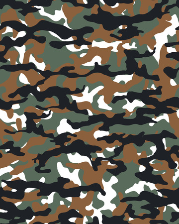 Fashionable camouflage pattern, vector illustration.Millatry print .Seamless vector wallpaper Ilustração