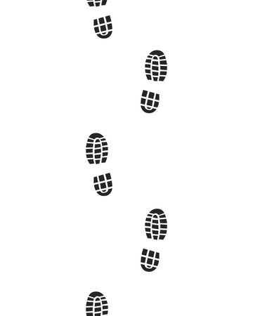 forensic: Black prints of shoes , seamless , vector
