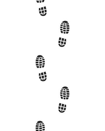 biometrics: Black prints of shoes , seamless , vector