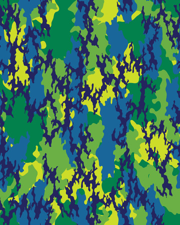 Fashionable camouflage pattern, military print .Seamless illustration, wallpaper Иллюстрация