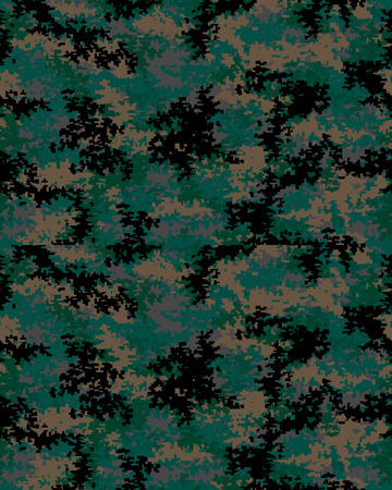 Digital fashionable camouflage pattern, seamless illustration