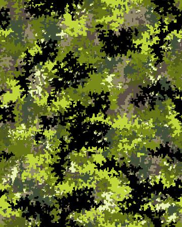 Digital fashionable camouflage pattern, fashion design. Seamless illustration Illustration