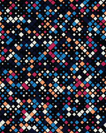 Geometric diagonal square mosaic pattern background, graphic illustration Illustration
