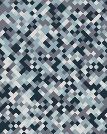 Square geometric abstract seamless pattern. Ornament texture or mosaic design backdrop tile template