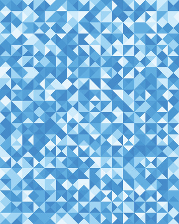 Triangular or square geometric abstract seamless pattern. Ornament texture or mosaic design backdrop tile template Ilustração