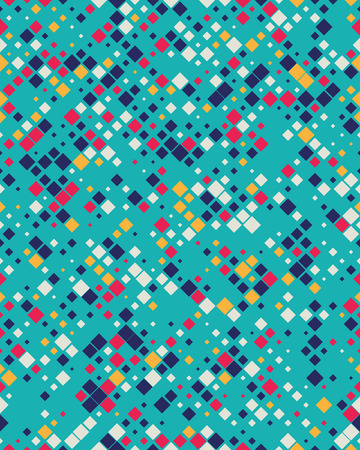Geometric diagonal square mosaic pattern background, graphic illustration Ilustração
