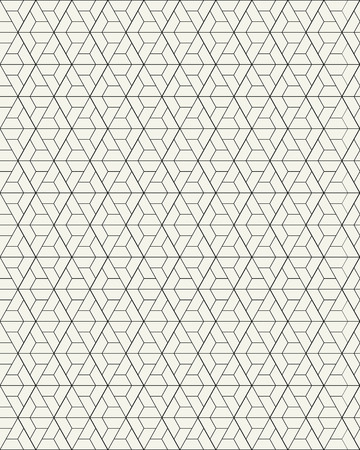 Vector seamless pattern. Modern stylish texture with monochrome trellis. Repeating geometric grid. Simple graphic design.
