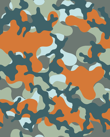 Camouflage pattern Seamless army wallpaper Military design Abstract camo design Vettoriali