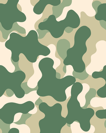 Camouflage pattern Seamless army wallpaper Military design Abstract camo design Illustration
