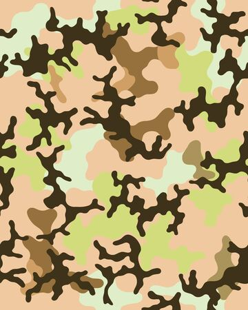 Camouflage pattern.Seamless army wallpaper.Military design.Abstract camo design.Digital paper. Repeating camouflage background.Fashionable.Printable art.Colorful vector illustration.